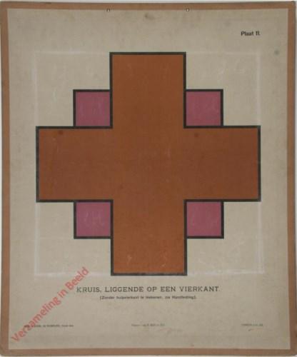 Kruis, liggend op een vierkant (Zonder hulpvierkant te teekenen, zie Handleiding)