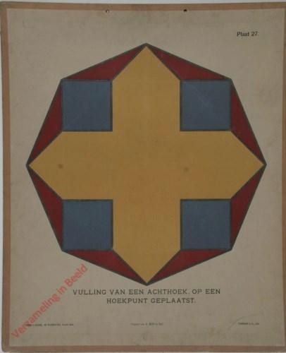 Vulling van een achthoek, op een hoekpunt geplaatst