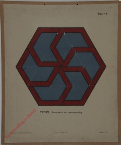 Tegel. zeshoeken als zeshoekvulling