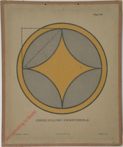 1e druk: No. LV - Cirkelvulling (kwartcirkels)