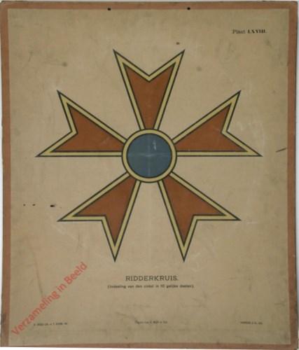 1e druk: No. LXVIII - Ridderkruis (Indeeling van den cirkel in 10 gelijke deelen)