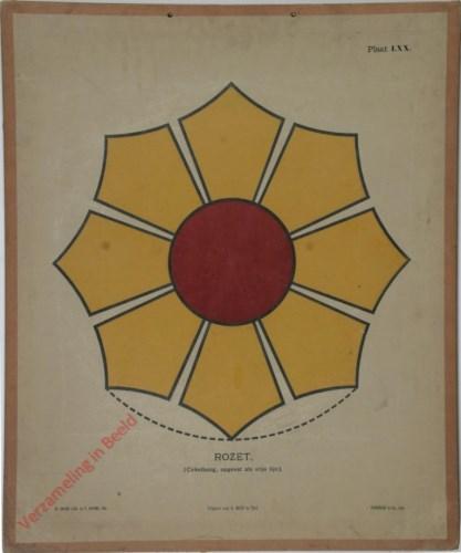 1e druk: No. LXX - Rozet (Cirkelboog, opgevat als vrije lijn)