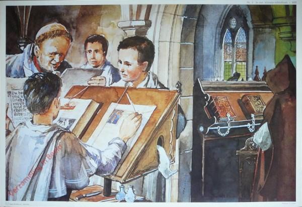 2 - In een klooster-bibliotheek - 800