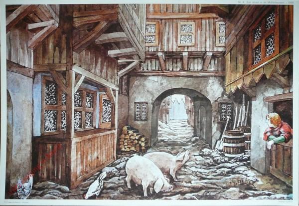 4 - Een straat in de Middeleeuwen - 1300