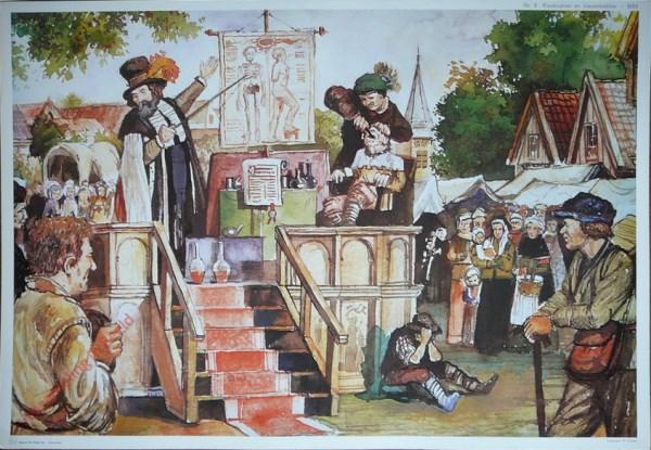 8 - Kwakzalver en kiezentrekker - 1650