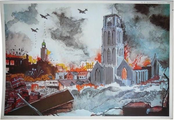 16 - Bombardement Rotterdam - 1940