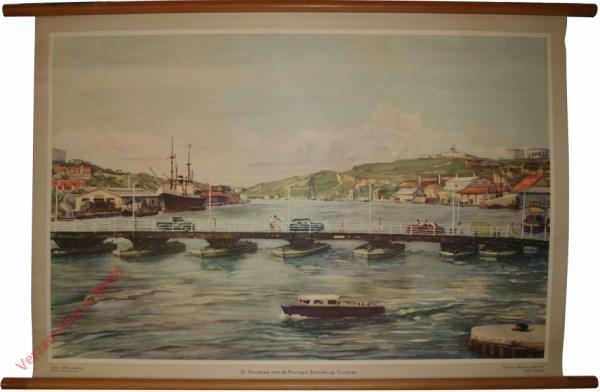 1 - St. Annabaai met de koningin Emmabrug. Curacao