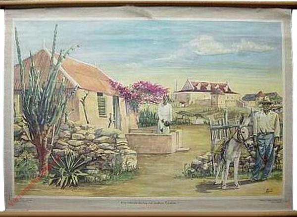 2 - De Koenoekoelandschap met landhuis. Curacao