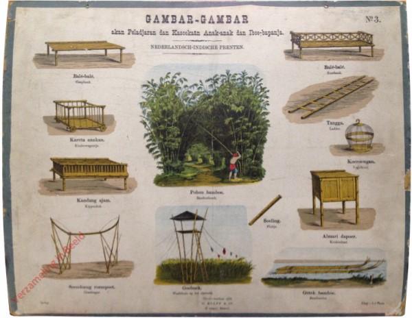 Pohon bamboe - bamboebosch, balé-balé - Slaapbank