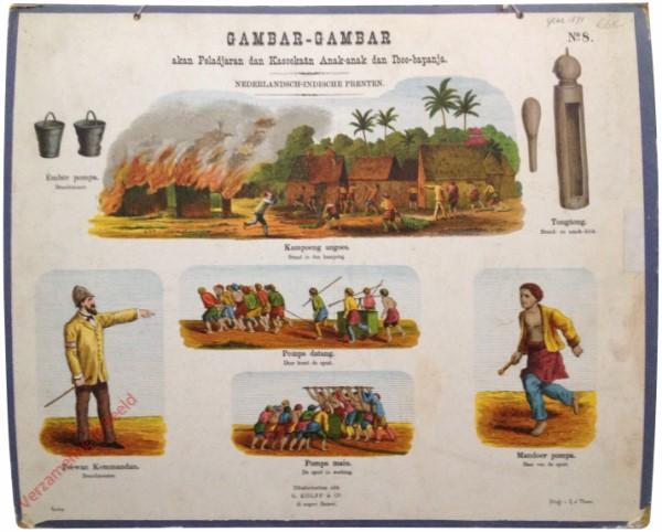Kampoeng angoes - Brand in de kampong