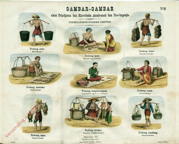 Toekang tjabé - Spaansche-peperverkooper