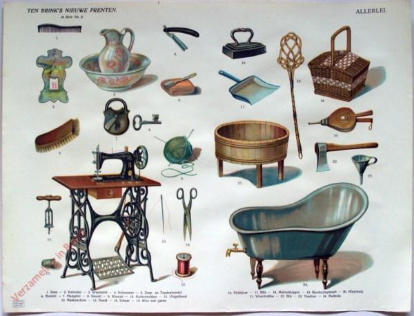 1e serie nr. 2 - Allerlei (met naaimachine en zitbad)