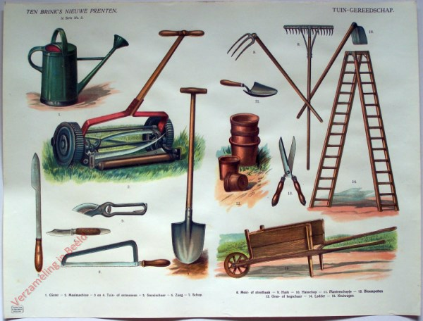 1e serie nr. 5 - Tuin-gereedschap