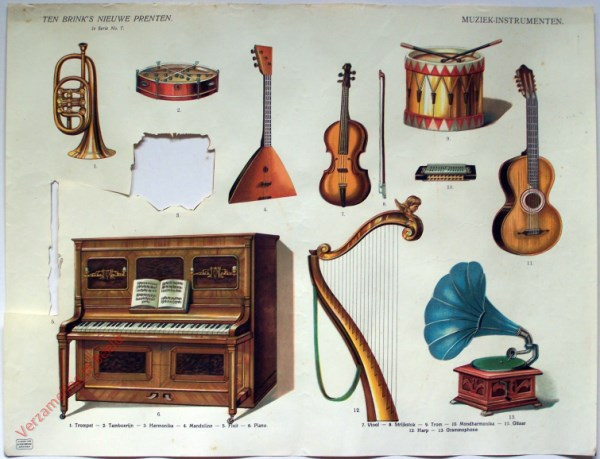 1e serie nr. 7 - Muziekinstrumenten