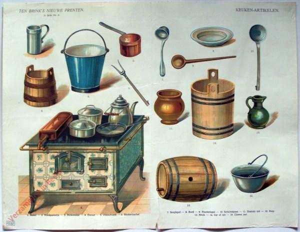 1e serie nr. 8 - Keuken-artikelen