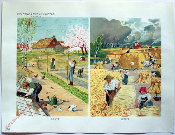 1e serie nr. 21 - Lente; zomer