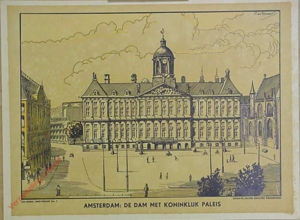 1 - Amsterdam: De Dam met Koninklijk Paleis