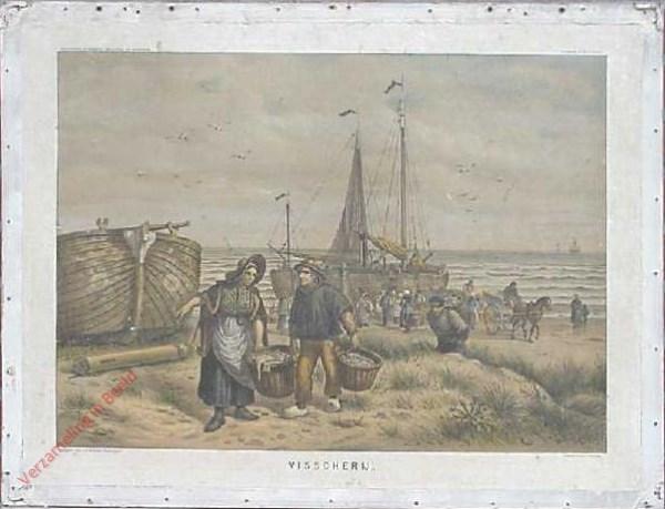 2e serie No. 8 - Visscherij [afgerond rood-wit-blauw voorschot op linker boot]