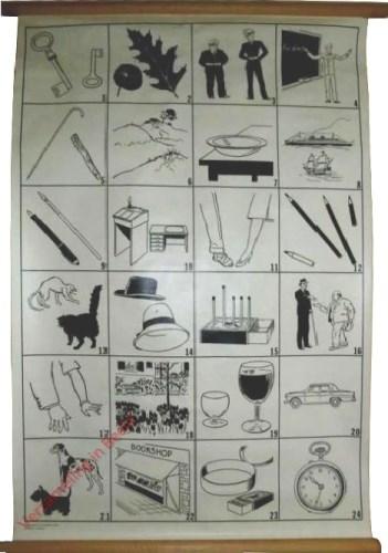 1 - [4x6 sleutels, eik, politie, schoolbord]