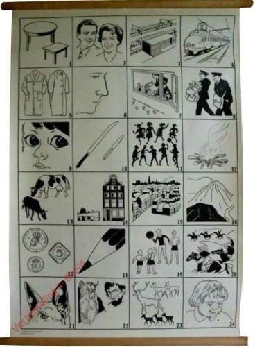 3 - [4x6 tafel, man en vrouw, station, trein]