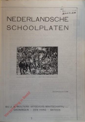 Catalogus - Nederlandsche schoolplaten - 1932
