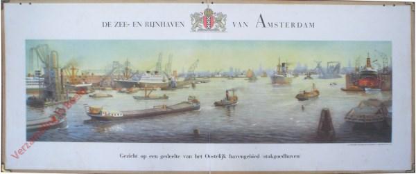 De Zee- en Rijnhaven van Amsterdam, gezicht op een gedeelte van het oostelijk havengebied (stukgoedhaven)