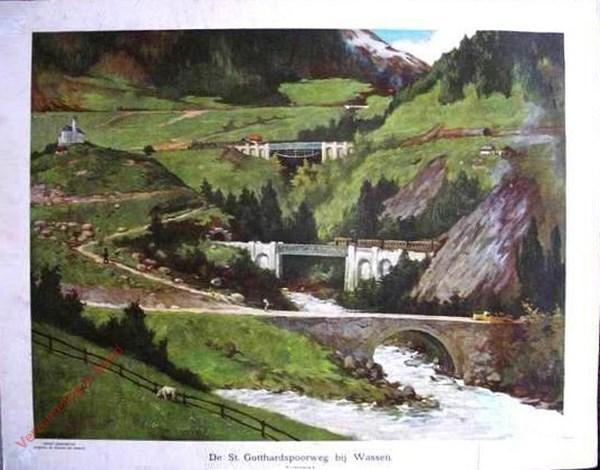 4 - De St. Gotthardspoorweg bij Wassen - Zwitserland