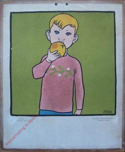 [Jongen met appel]