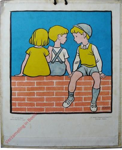 [Kinderen op muurtje]