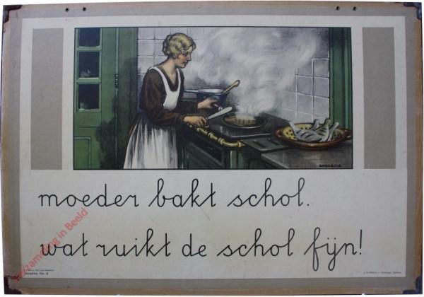 6 - moeder bakt schol. wat ruikt schol fijn!