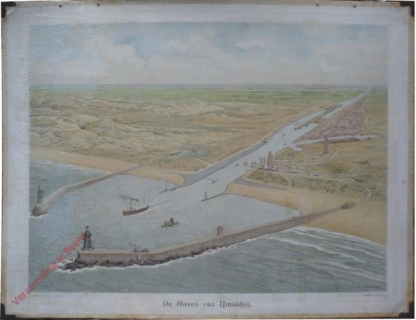 8 - De haven van IJmuiden [rechts vanuit zee]