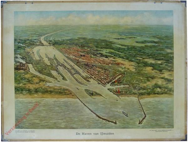 8 - De haven van IJmuiden [links vanuit zee]