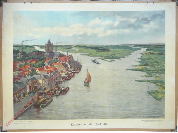 9 - Kampen en de IJseldelta [over de IJsel gezien met bootje]