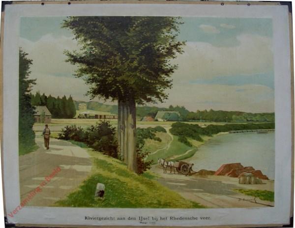 13 - Riviergezicht aan den IJsel bij het Rhedensche veer (Hooge oever)
