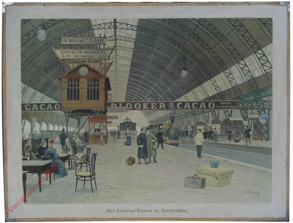 16 - Het Centraal-station te Amsterdam