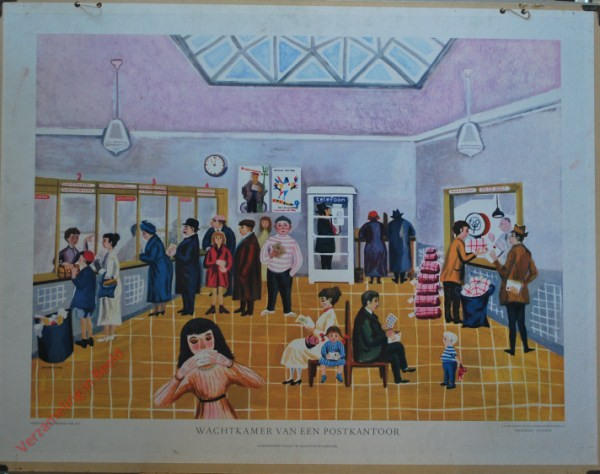 Wachtkamer van een Postkantoor