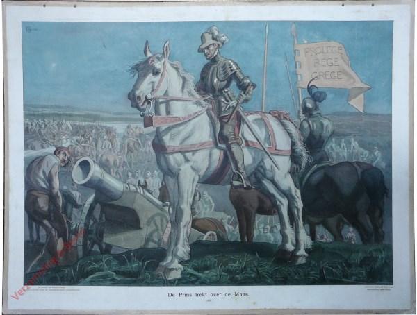 [Var1] - De Prins trekt over de Maas, 1568 [voorgrond wit paard]