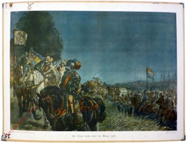 [Var2] - De Prins trekt over de Maas, 1568 [voorgrond zwart paard]