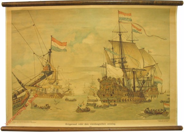 [Var1] - Krijgsraad v��r den vierdaagschen zeeslag, 1666 [bootje in midden verborgen]