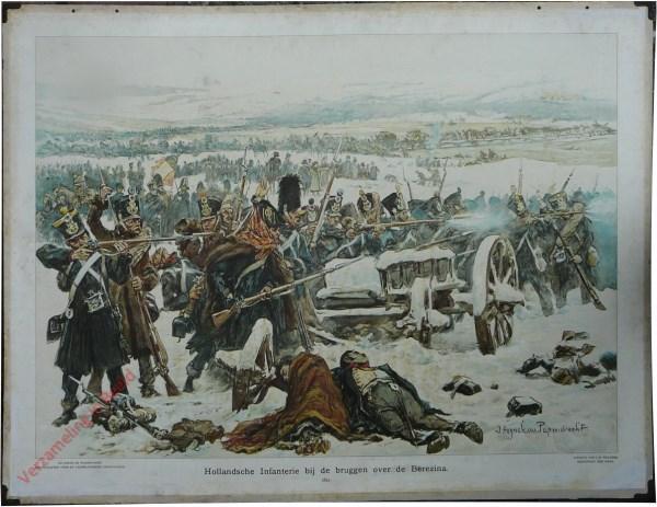 [Var1] - Hollandsche Infanterie bij de bruggen over de Berezina, 1812