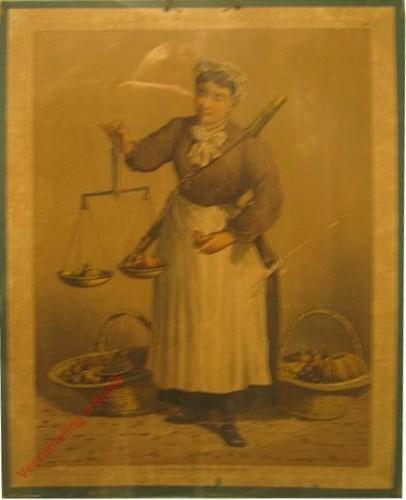 1e serie No. 14 - De Fruitvrouw [Vrouw kijkt naar beneden]