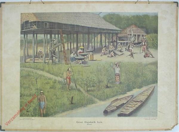 11 - Groot Dajaksch huis. Borneo