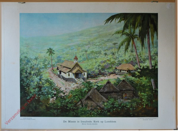 13 - De Missie in Insulinde. Kerk op Lomblem. Kleine Soenda-eilanden