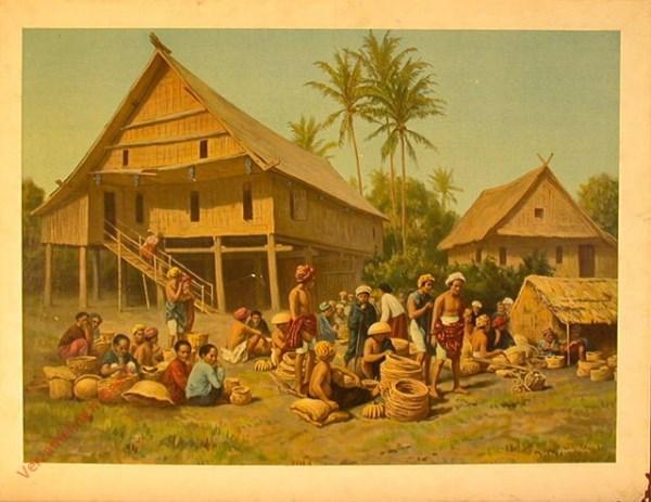 Tweede serie, no. 4 - Markt in Zuid-Celebes