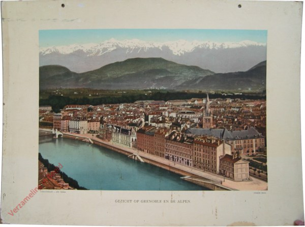 2e serie, VI - Gezicht op Grenoble en de Alpen