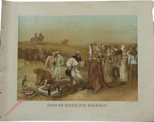 Eerste serie, No. 4 - Jacoba van Beieren op de Valkenjacht
