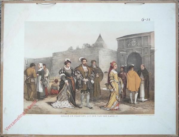 Eerste serie, No. 5 - Edelen en Poorters uit den tijd van Karel V