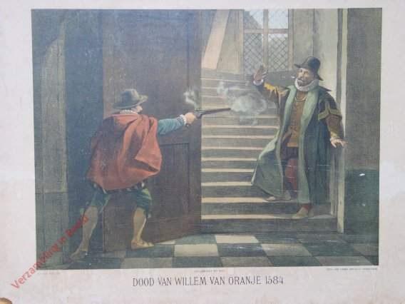 Eerste serie, No. 8 - Dood van Willem van oranje, 1584