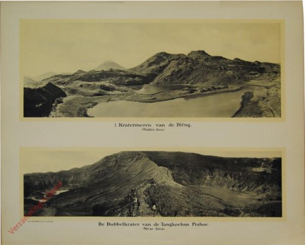 7 - Kratermeren van de Diëng. (Midden-Java) De dubbelkratervan de Tangkoeban Prahoe. (West-Java)