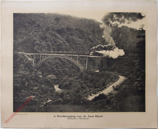 33 - Overbrugging van de Anai-kloof. (Sumatra's Westkust)